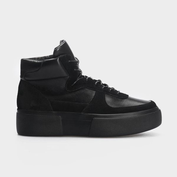 Ботинки женские Ботинки 898829520 черная кожа/замша. Байка 898829520 , 2017