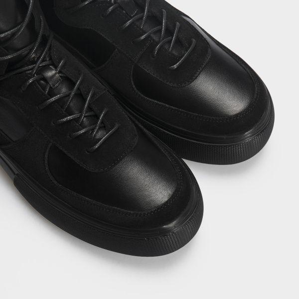 Ботинки женские Ботинки 898829520 черная кожа/замша. Байка 898829520 смотреть, 2017