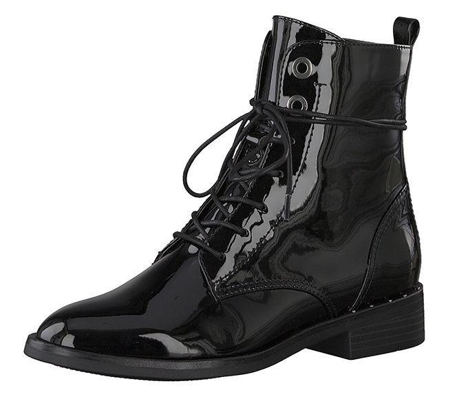 Черевики  для жінок S.Oliver 25102-21-018 BLACK PATENT модне взуття, 2017