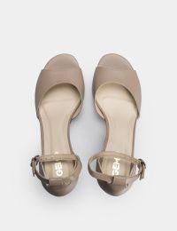 Босоножки женские Босоножки 90585748 бежевая кожа 90585748 брендовая обувь, 2017