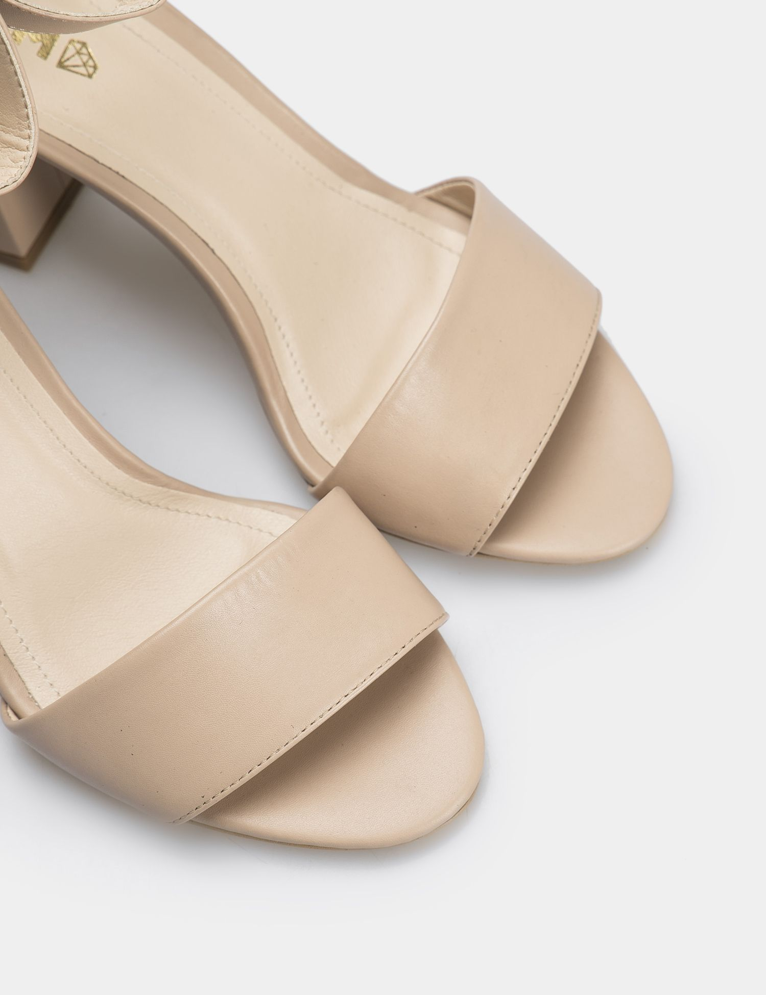 Босоножки женские Босоножки 92287448 бежевая кожа 92287448 размерная сетка обуви, 2017