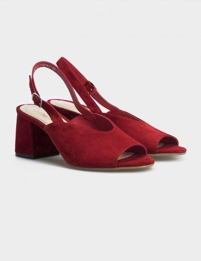 Босоножки женские Босоножки 93190542 красная замша 93190542 брендовая обувь, 2017