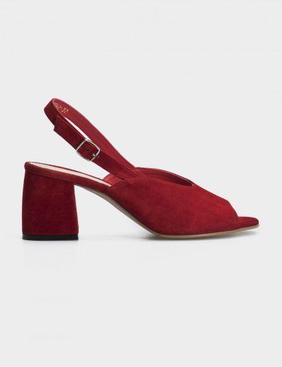 Босоножки женские Босоножки 93190542 красная замша 93190542 размерная сетка обуви, 2017