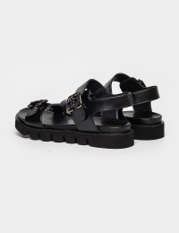 Сандалі  жіночі Сандали 93900284 черная кожа 93900284 модне взуття, 2017
