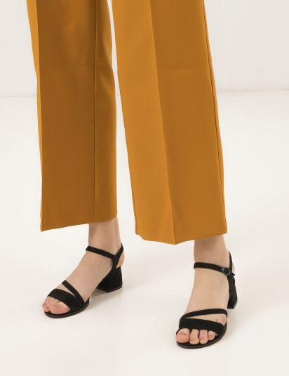 Босоножки женские Босоножки 95590141 черная замша 95590141 брендовая обувь, 2017
