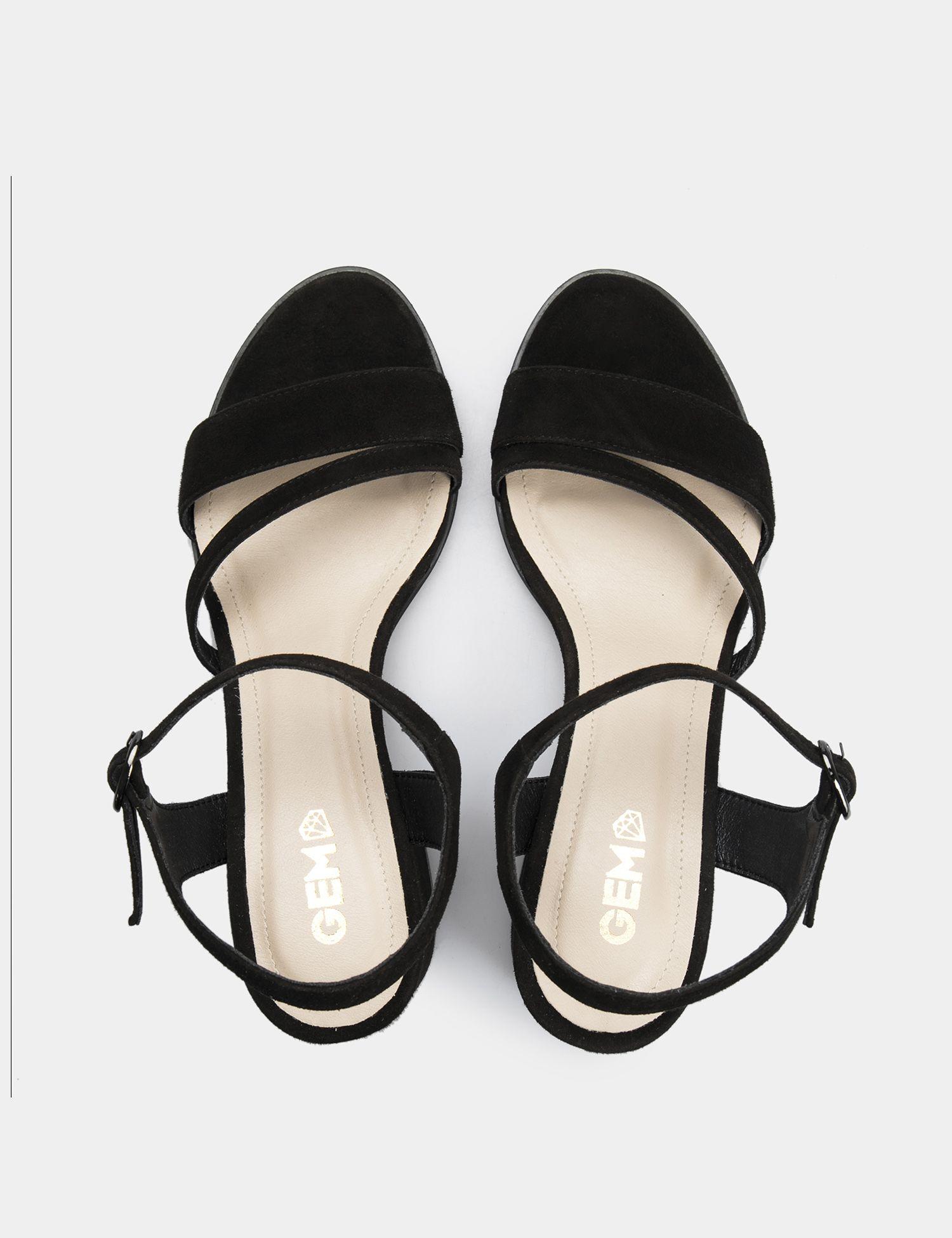 Босоножки женские Босоножки 95590141 черная замша 95590141 размерная сетка обуви, 2017