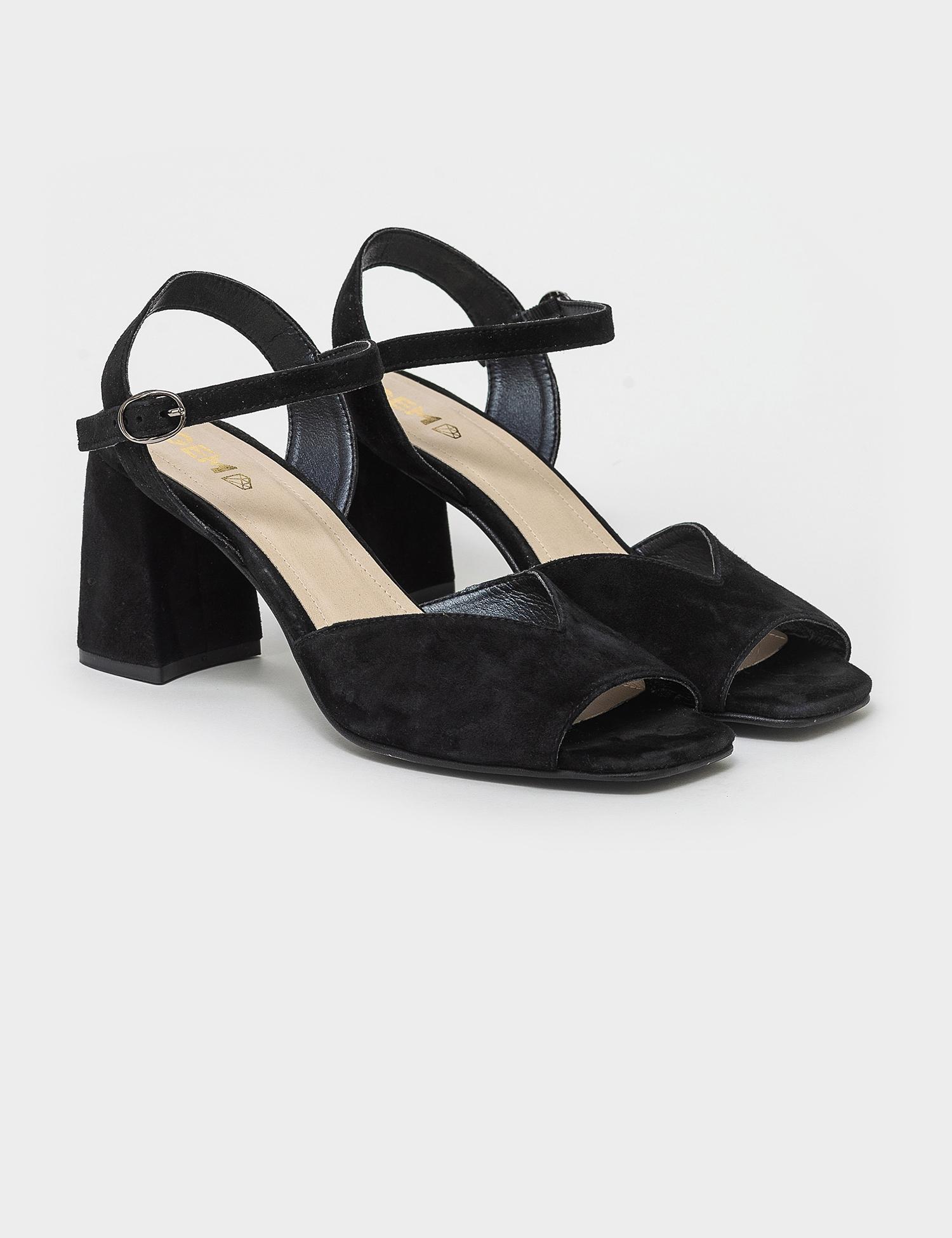 Босоніжки  жіночі Босоножек 95790141 черная замша 95790141 розмірна сітка взуття, 2017