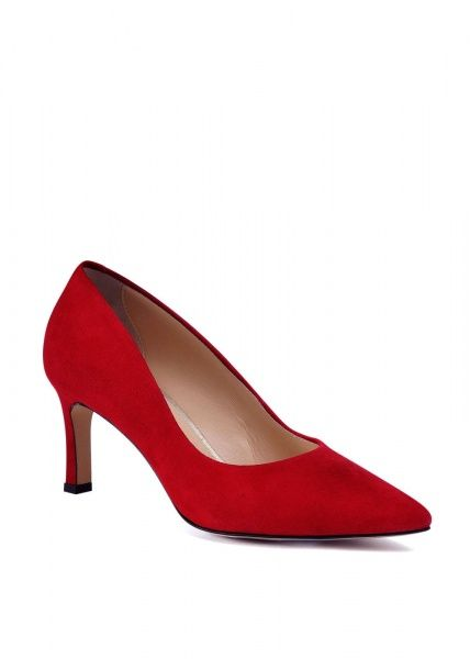 женские 973333 Красные замшевые туфли Modus Vivendi 973333 брендовая обувь, 2017
