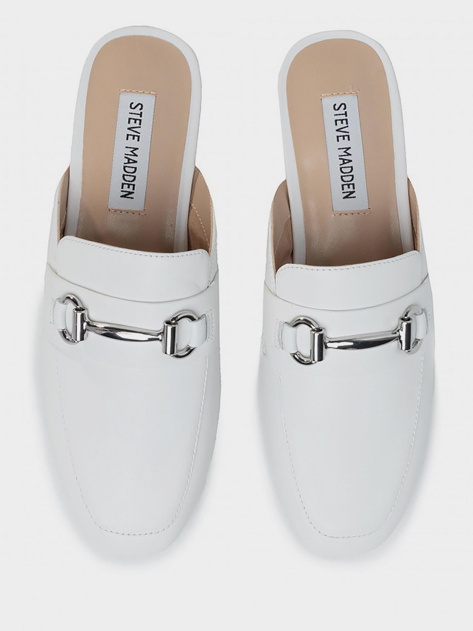 Шльопанці  жіночі Steve Madden SM11000935 WHITE LEATHER продаж, 2017