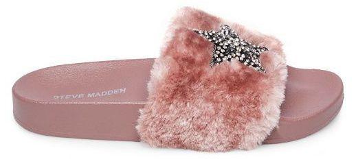 Купить Шлёпанцы женские Steve Madden SHIMMER 9T17, Розовый