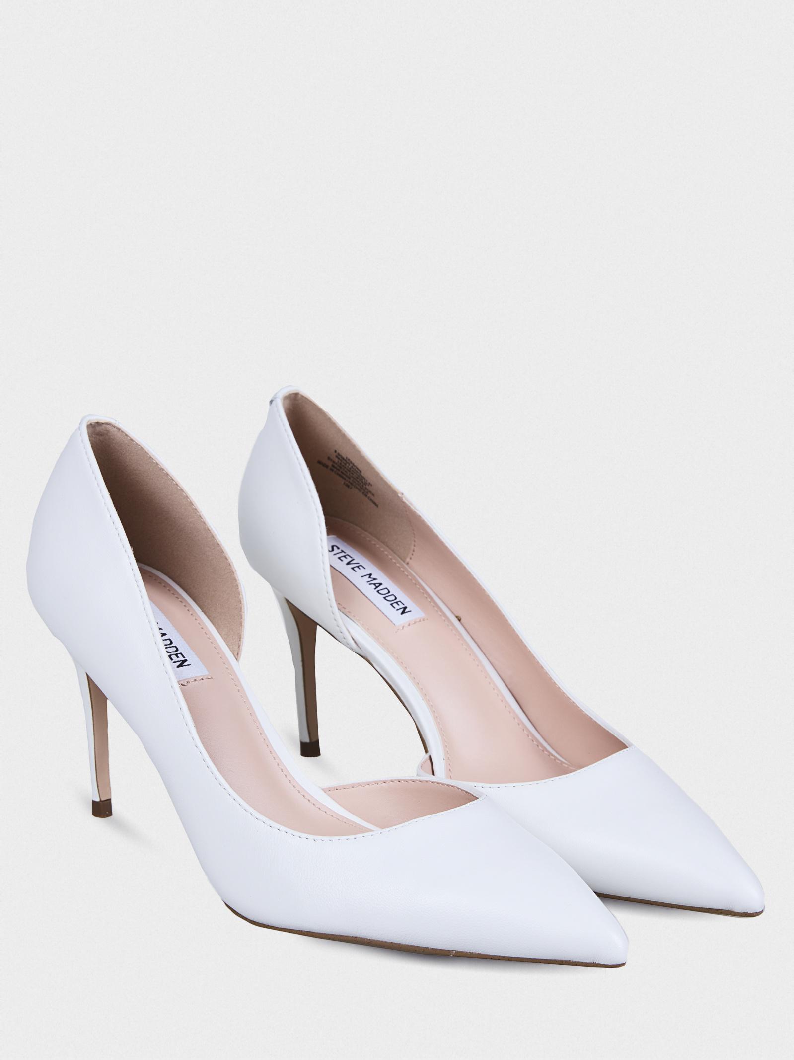 Туфли женские Steve Madden LESSONS SM11000961 WHITE LEATHER купить в Интертоп, 2017