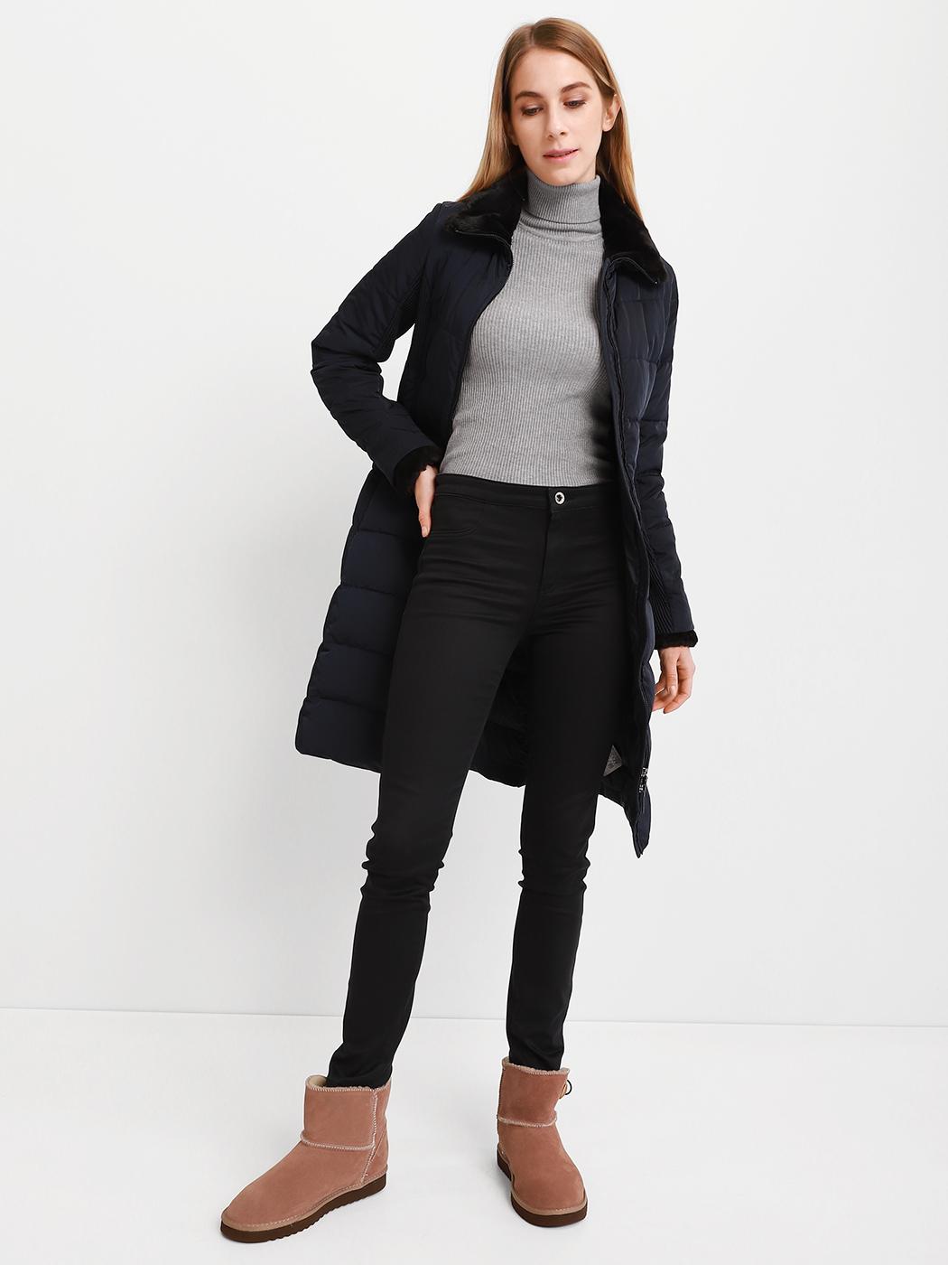 Купить Пальто пуховое женские модель AY2277, Armani Jeans, Синий