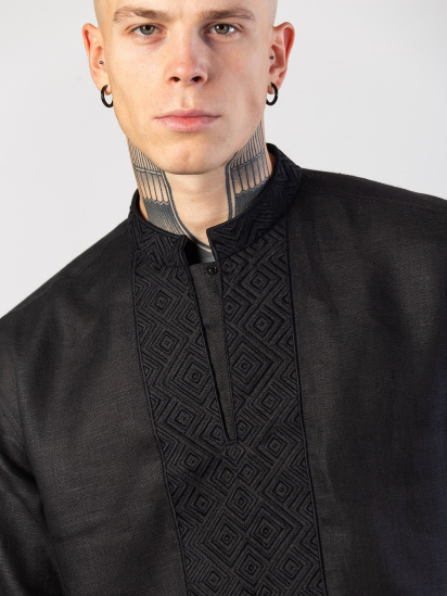 Сорочка з довгим рукавом Etnodim модель Apollo_black_etnd — фото 2 - INTERTOP