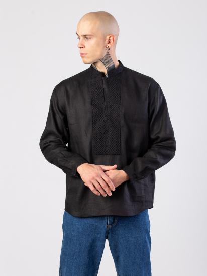 Сорочка з довгим рукавом Etnodim модель Apollo_black_etnd — фото 4 - INTERTOP