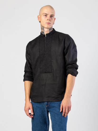 Сорочка з довгим рукавом Etnodim модель Apollo_black_etnd — фото - INTERTOP