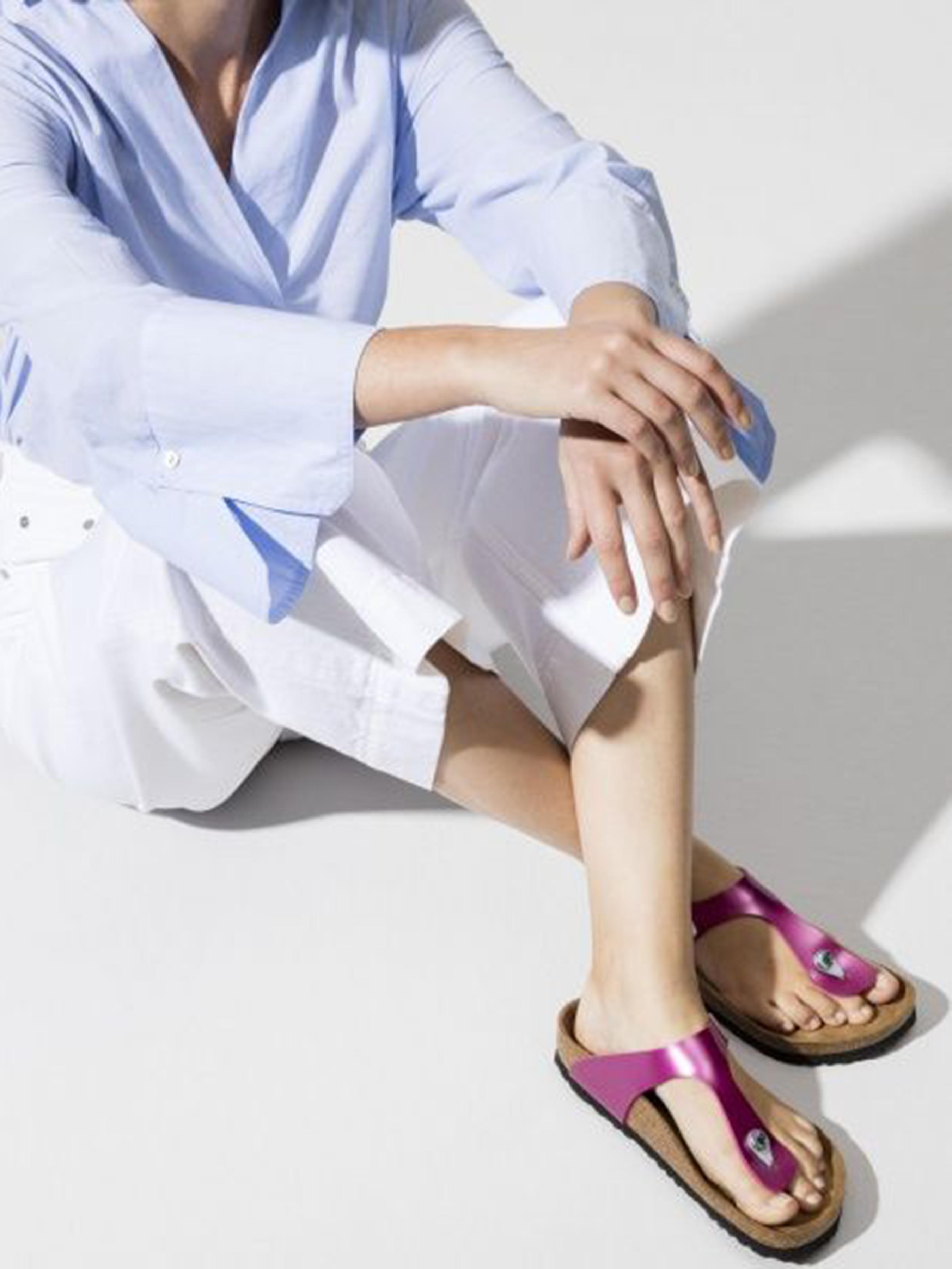 Шлёпанцы женские Birkenstock Gizeh BJ60 брендовая обувь, 2017