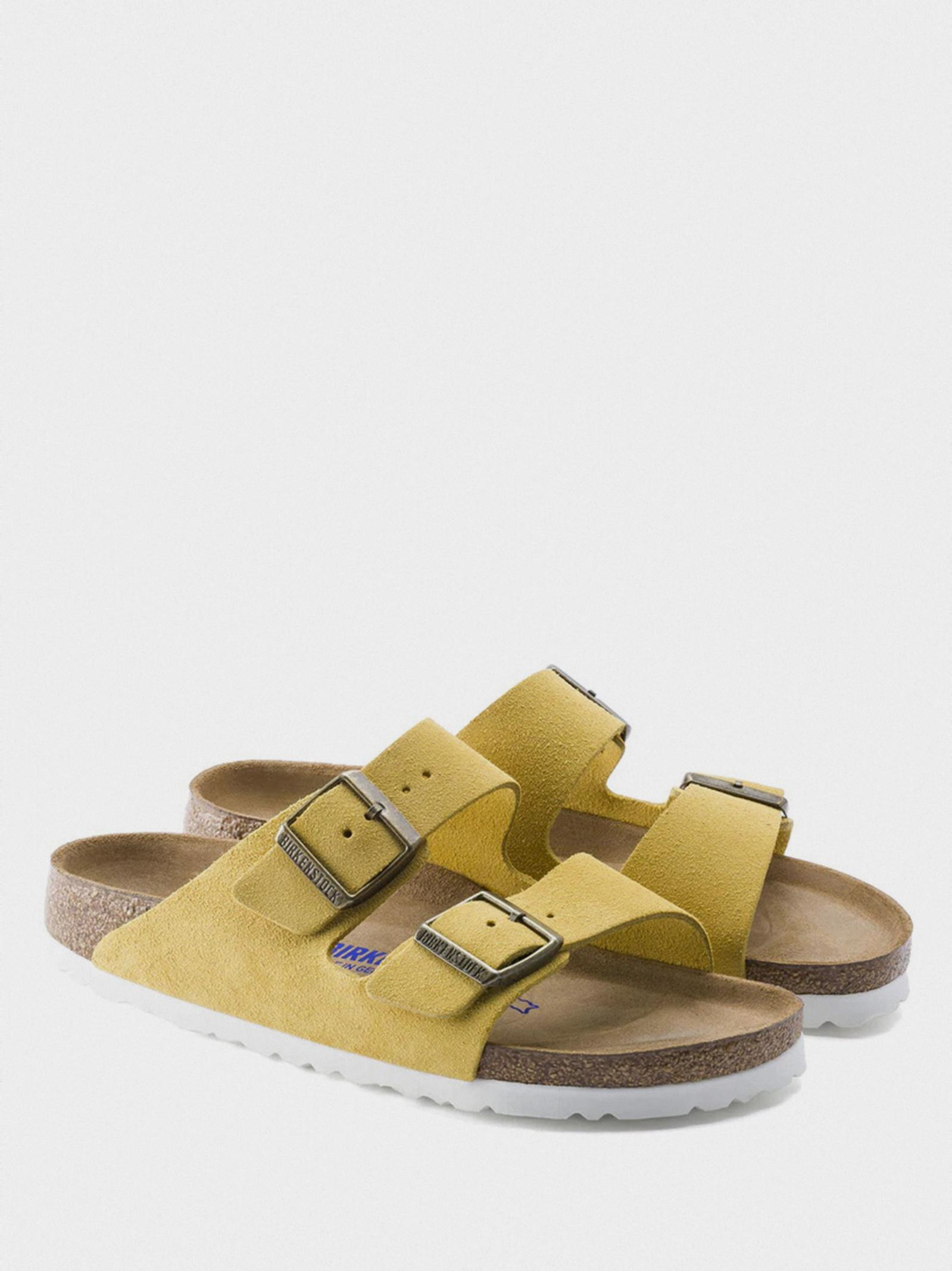 Шльопанці  жіночі Birkenstock Arizona SFB VL Ochre R 1015889 брендове взуття, 2017