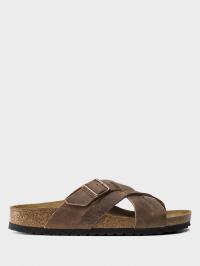 Шлёпанцы мужские Birkenstock Lugano LENB Camberra Old Tobac 1015498 обувь бренда, 2017
