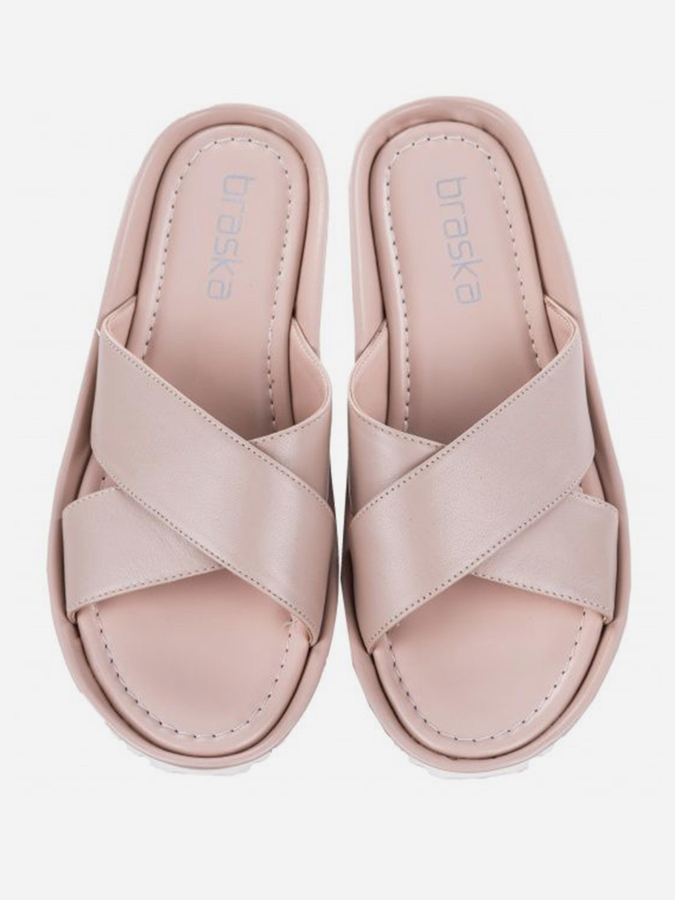 Шлёпанцы женские Braska BS3054 размерная сетка обуви, 2017