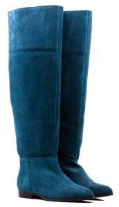 Женские сапоги бирюзовые, фото, intertop