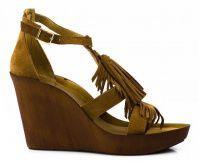 Женские босоножки коричневые, фото, intertop