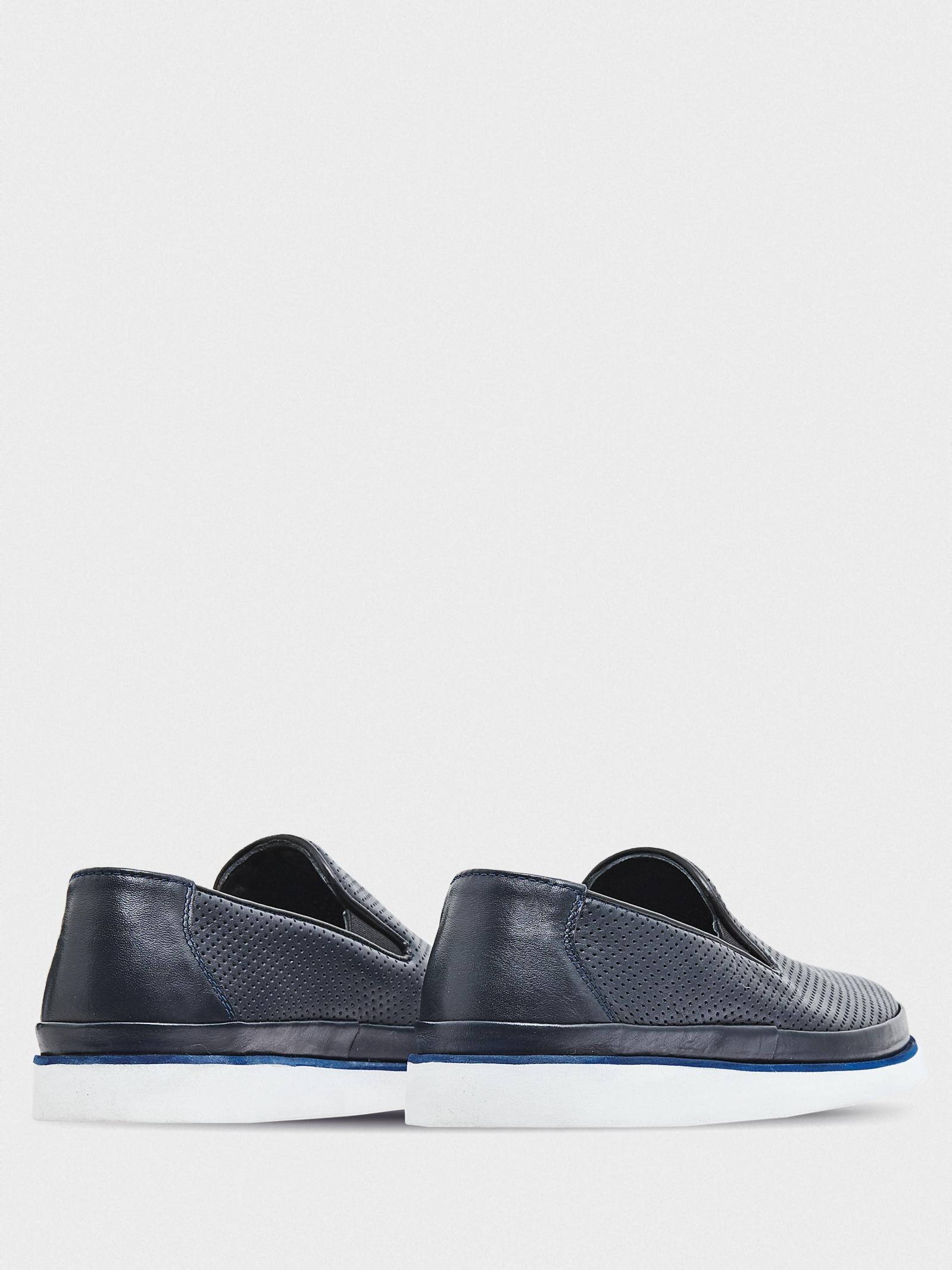 Слипоны мужские GRAF shoes SYM-AT-03 NAVY NAPA купить в Интертоп, 2017