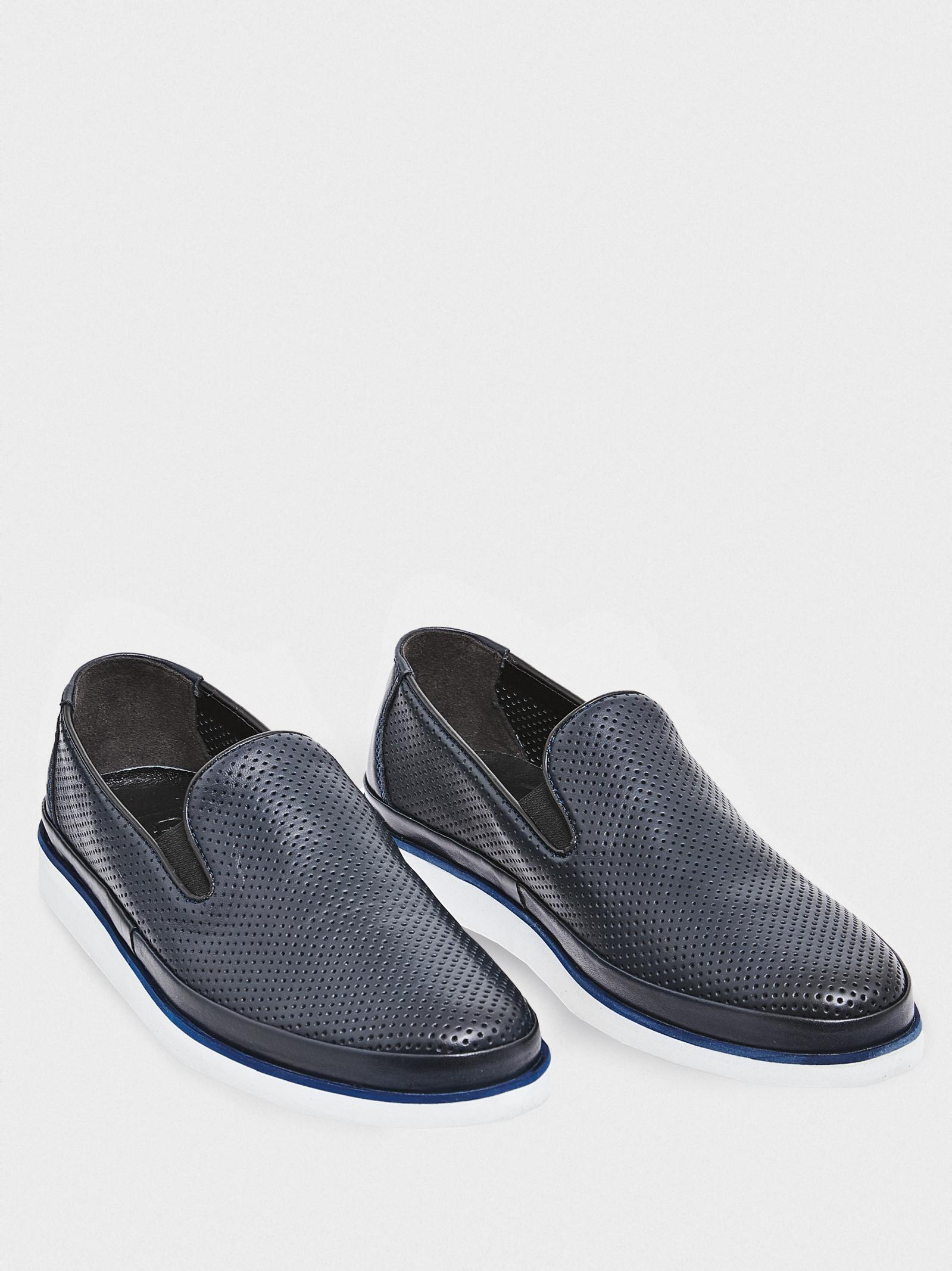 Слипоны мужские GRAF shoes SYM-AT-03 NAVY NAPA продажа, 2017