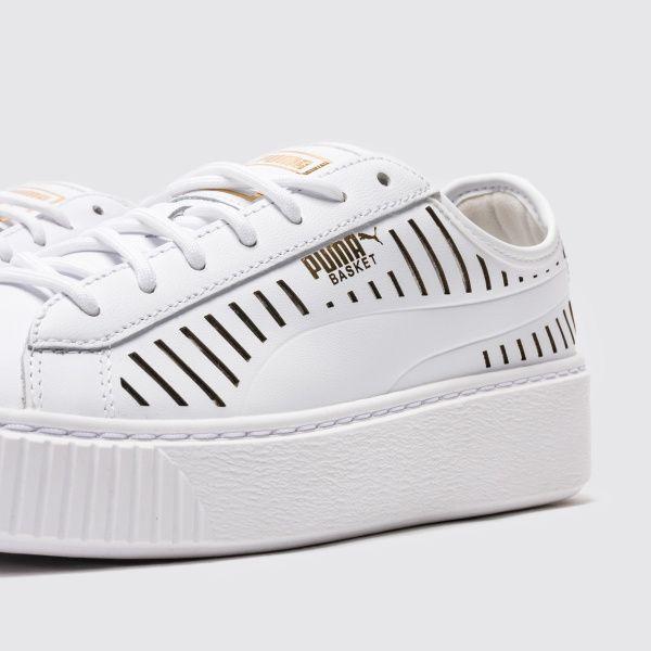 Кроссовки для женщин PUMA Basket Platform Summer Wn s CJ94 брендовая обувь, 2017