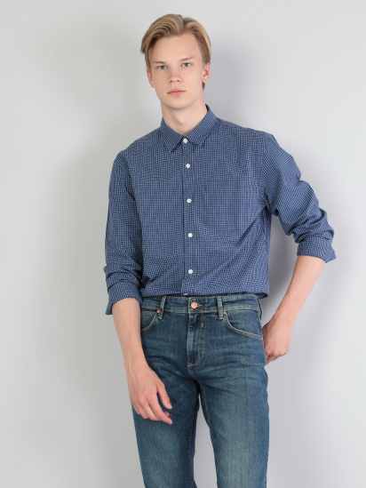 Сорочка з довгим рукавом Colin's модель CL1044332BLU — фото 3 - INTERTOP