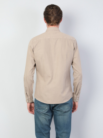Сорочка з довгим рукавом Colin's модель CL1044554BEI — фото 2 - INTERTOP