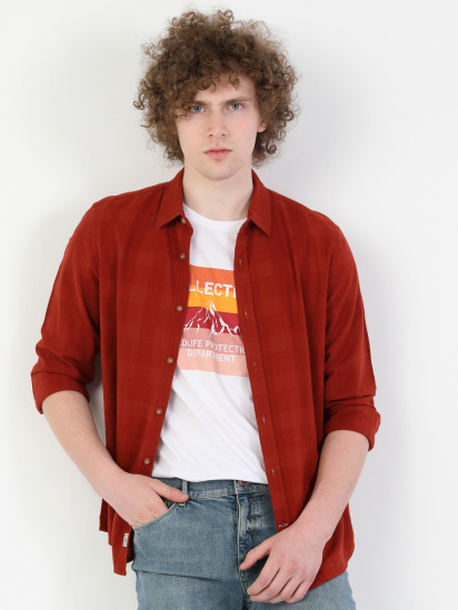 Сорочка з довгим рукавом Colin's модель CL1049269BOR — фото 4 - INTERTOP