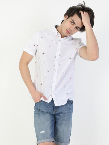 Сорочка з коротким рукавом Colin's модель CL1041902WHT — фото 3 - INTERTOP