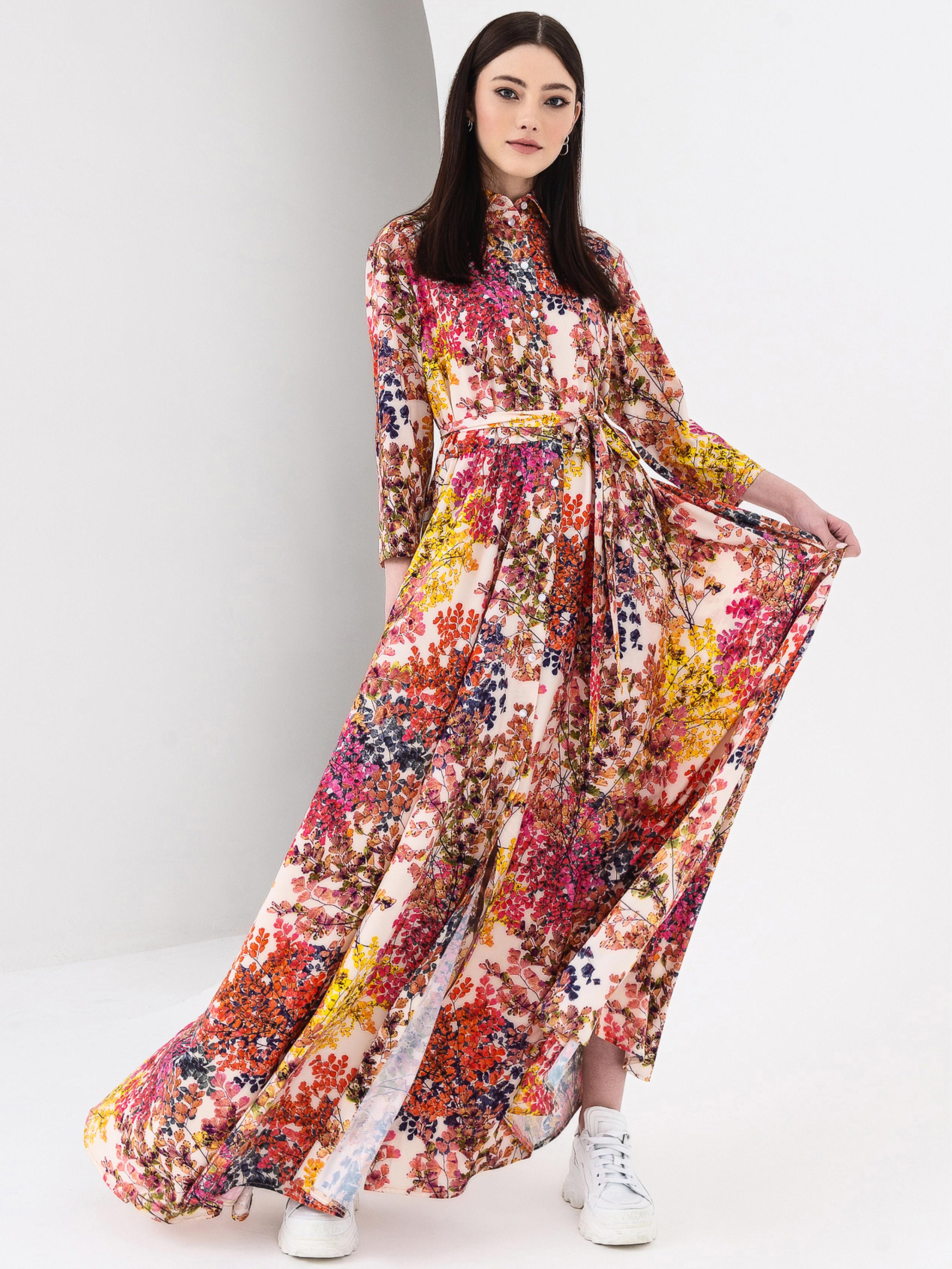 Купить Платье женское VOVK модель 08116 принт, Многоцветный