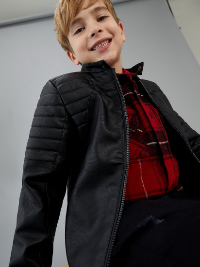 Шкіряна куртка Defacto модель S8477A6-BK27 — фото 3 - INTERTOP