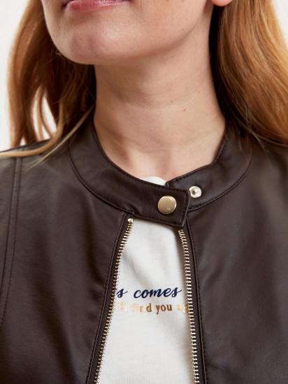 Шкіряна куртка Defacto модель N6772AZ-BN1 — фото 3 - INTERTOP