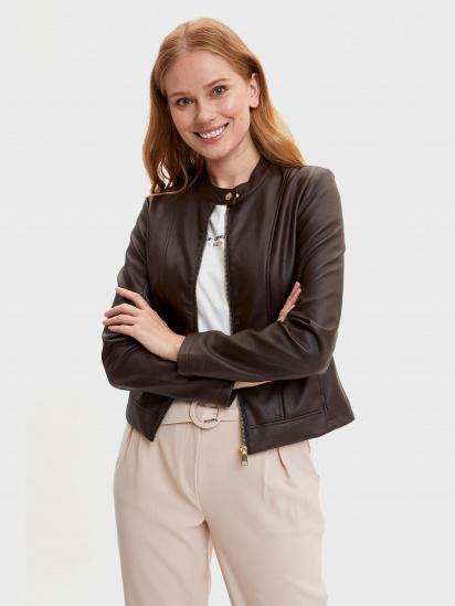 Шкіряна куртка Defacto модель N6772AZ-BN1 — фото - INTERTOP