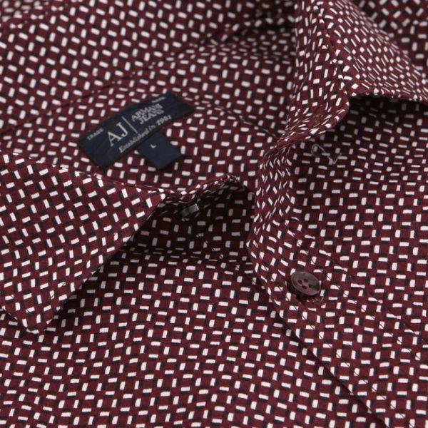 Рубашка с длинным рукавом мужские Armani Jeans EE1472 примерка, 2017