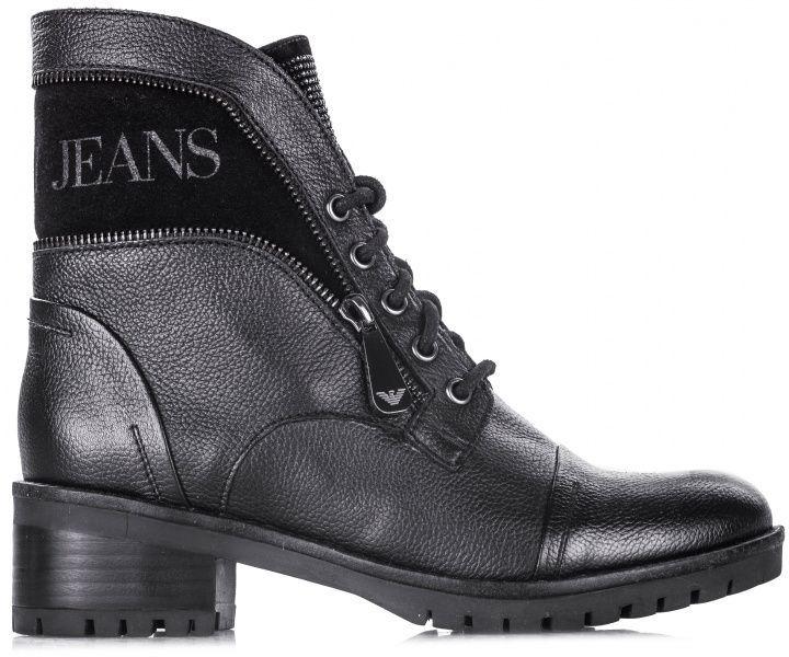 Ботинки для женщин Armani Jeans WOMAN LEATHER BOOT EF382, Черный  - купить со скидкой
