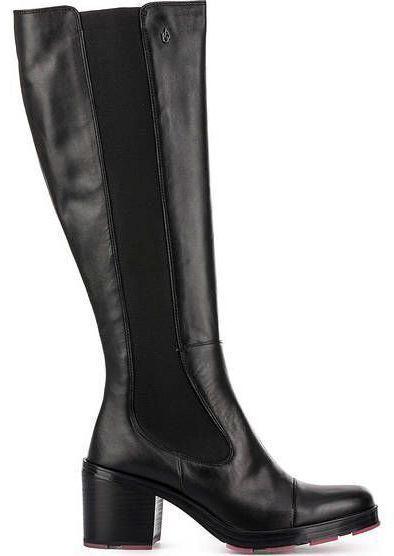 Купить Сапоги для женщин Armani Jeans WOMAN LEATHER BOOT EF385, Черный