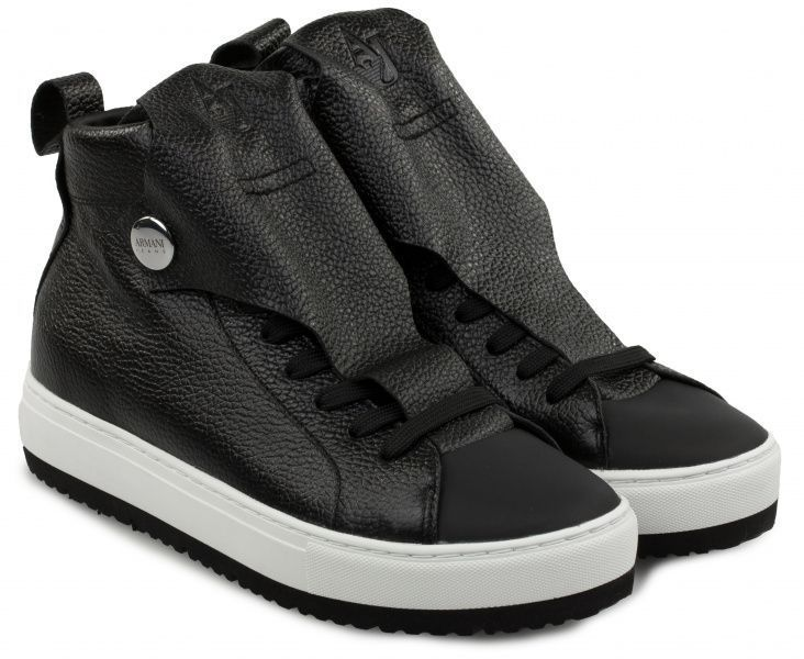 Купить Ботинки для женщин Armani Jeans WOMAN LEATHER SNEAKER EF390, Черный