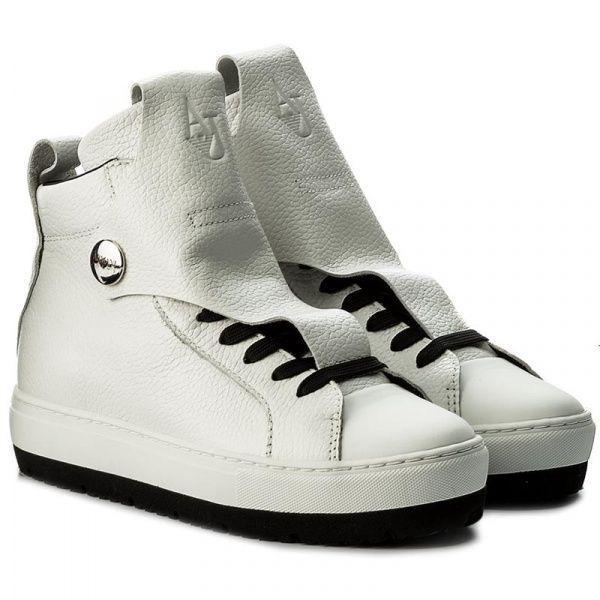 Купить Ботинки для женщин Armani Jeans WOMAN LEATHER SNEAKER EF391, Белый