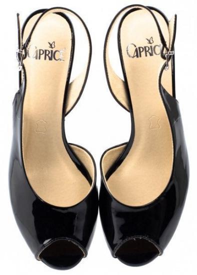 Босоніжки  для жінок Caprice 29500-26-018 black patent розмірна сітка взуття, 2017