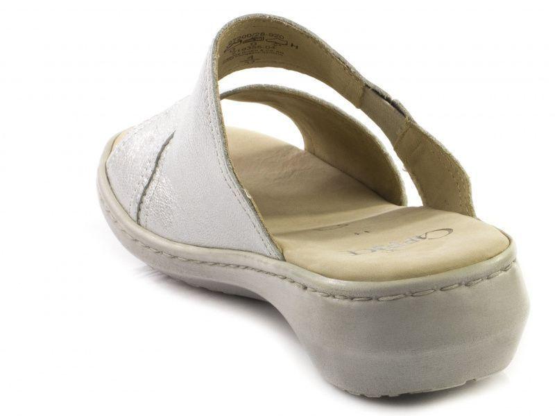 Шлёпанцы для женщин Caprice 27200-28-920 silver metal модная обувь, 2017