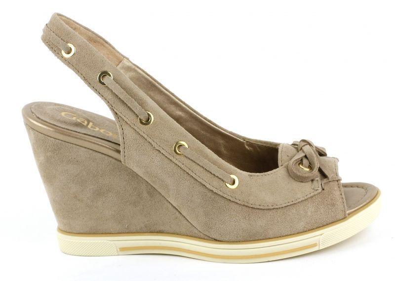 Босоножки женские Gabor 63.870-12 размерная сетка обуви, 2017