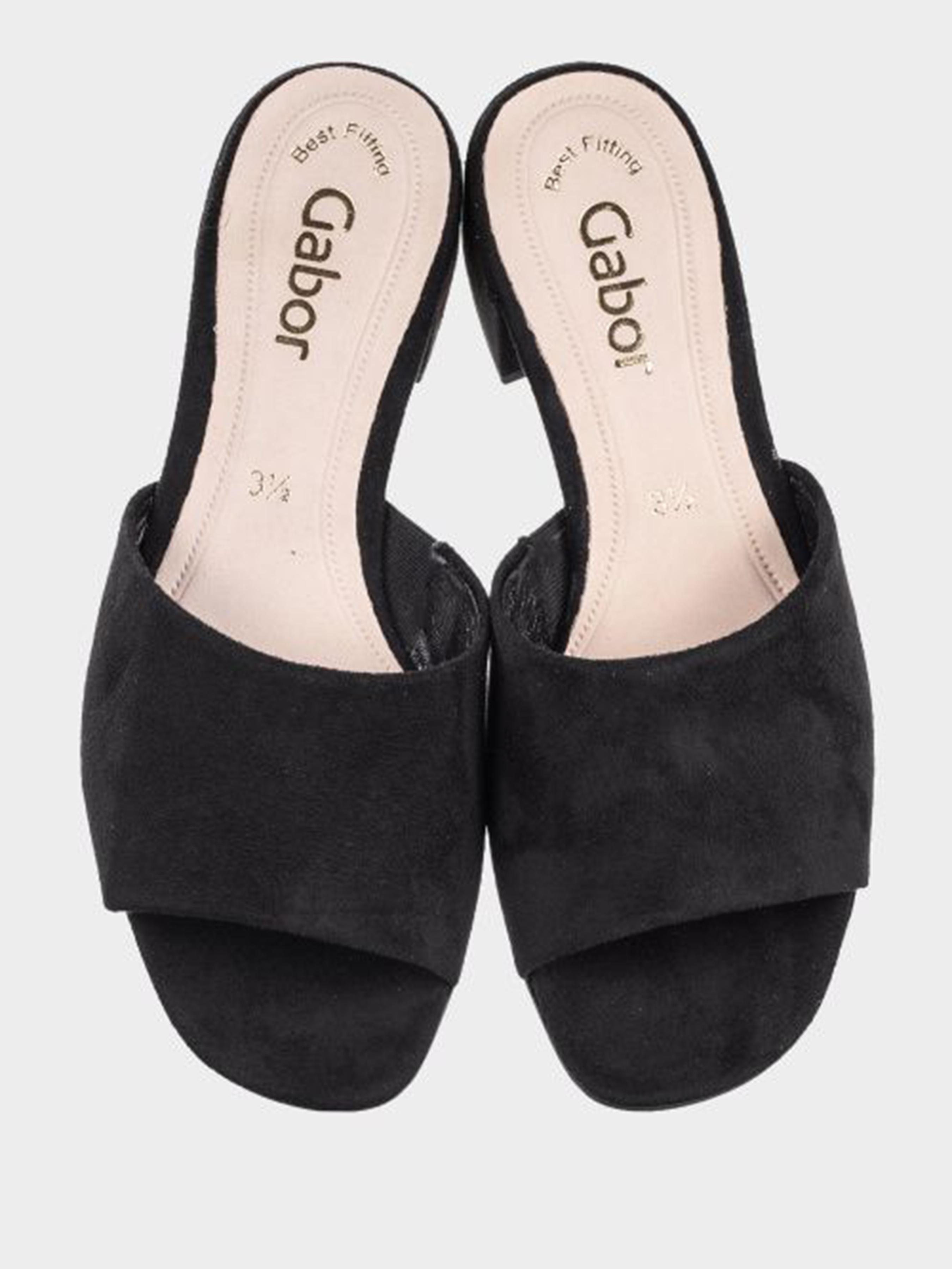 Шльопанці  жіночі Gabor GB2225 розмірна сітка взуття, 2017