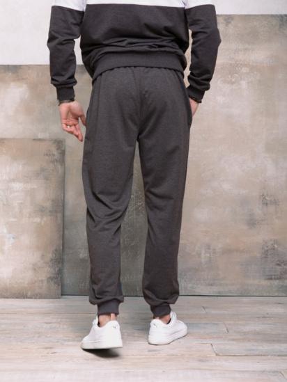 Спортивні штани ISSA Plus модель GN-406_темно-серый — фото 2 - INTERTOP