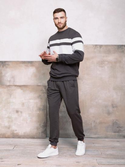 Спортивні штани ISSA Plus модель GN-406_темно-серый — фото 3 - INTERTOP