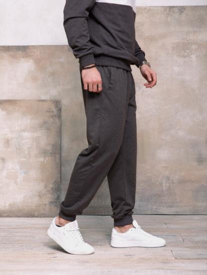 Спортивні штани ISSA Plus модель GN-406_темно-серый — фото 4 - INTERTOP