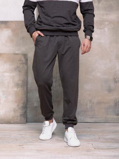 Спортивні штани ISSA Plus модель GN-406_темно-серый — фото - INTERTOP