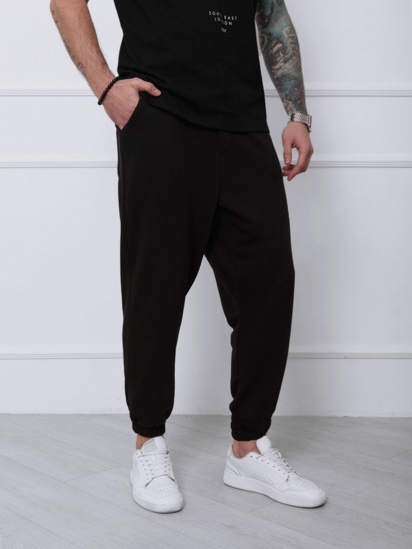 Спортивні штани ISSA Plus модель SA-133_черный — фото 4 - INTERTOP